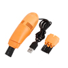 Computer Keyboard Dust Scrap USB Port Mini Vacuum Cleaner Orange