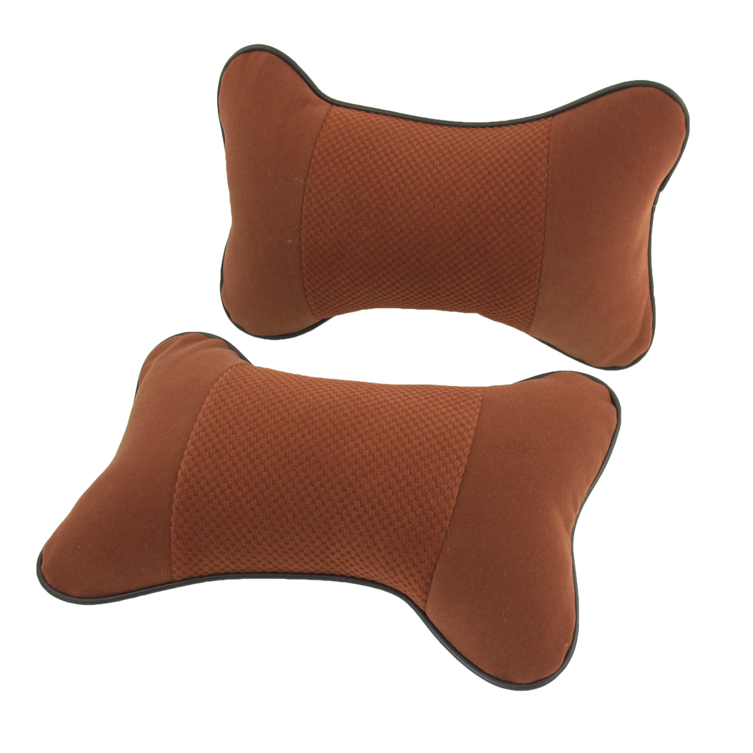 2 Pcs Brick Red Flannel Neck Head Massage Support Pad Pillows for Car Driver