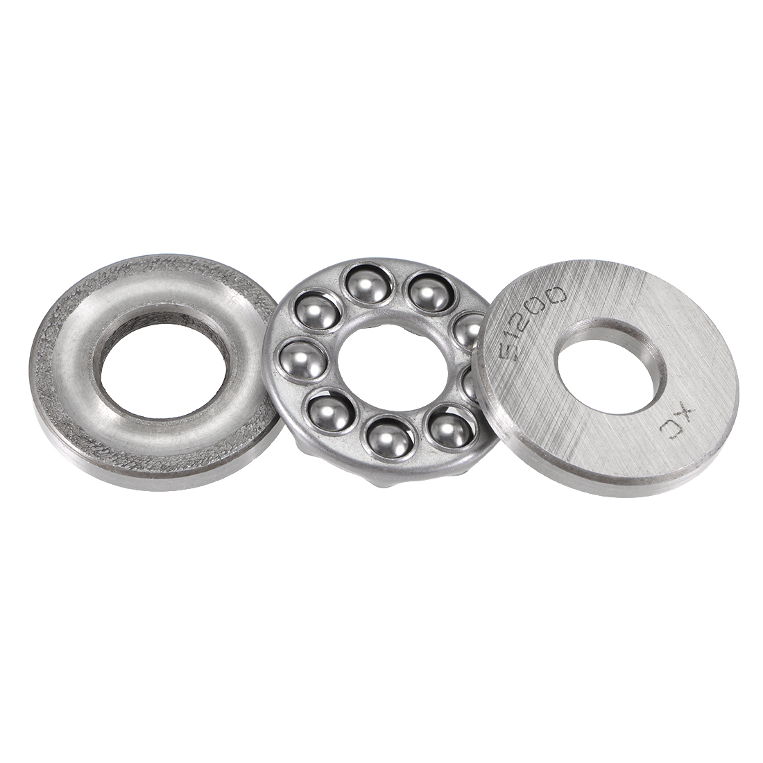 Carbon Steel Axial Thrust Bearing 10mm x 26mm x 9mm 51200