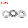 Auto 24mm x 11mm x 8mm Carbon Steel Thrust Ball Bearing 51100