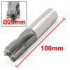 20mmx20mm HSS Straight Shank 4 Flutes End Milling Cutter 100mm Long