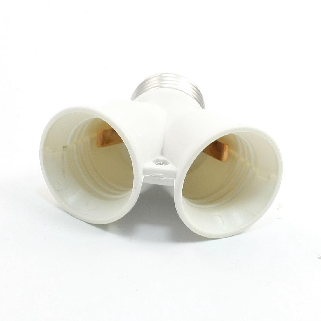 E26 Splitter to Dual E26 Lamp Light Bulbs Holder Socket Adaptor