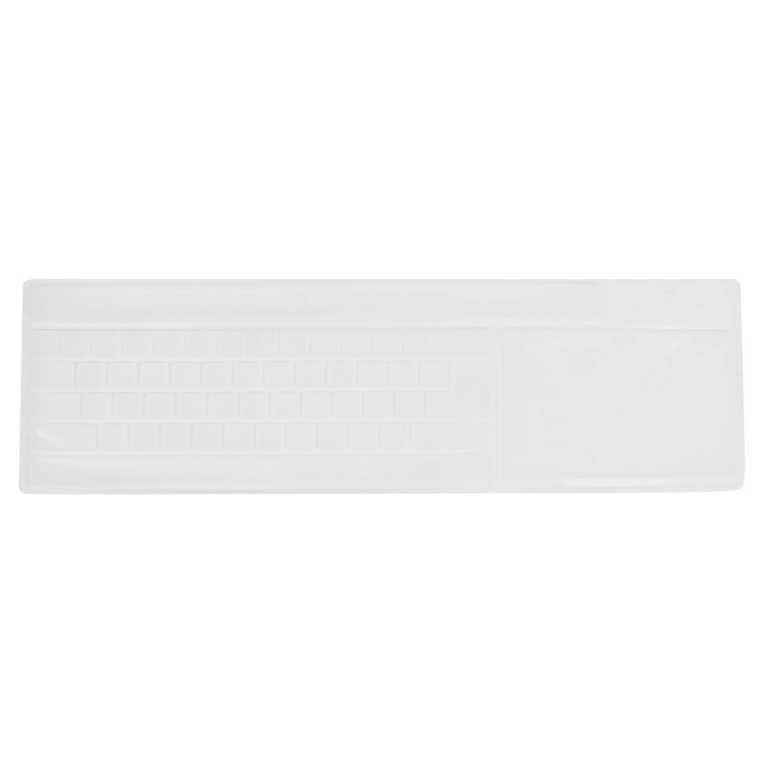 Solf Silicone Keyboard Protective Film Cover White for Desktop Computer