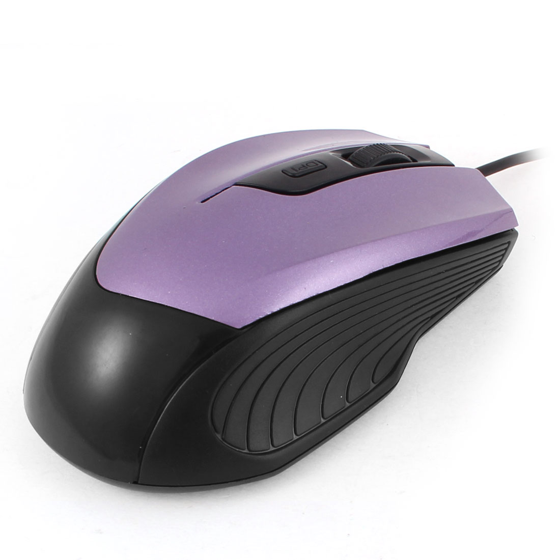 Black Purple 1200dpi 3D Scroll Wheel USB2.0 Optical Mouse for PC