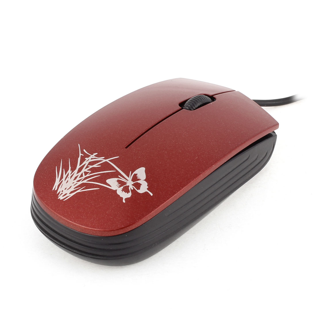 USB Optical 3D Scroll Wheel Mouse Mice Black Red for PC Computer