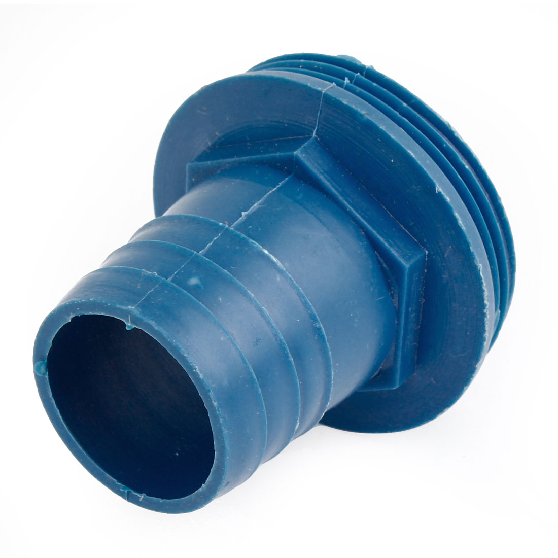 Blue 36mm Dia Water Pump Hose Barb to 55mm Male Thread Coupling Adaptor Fittings
