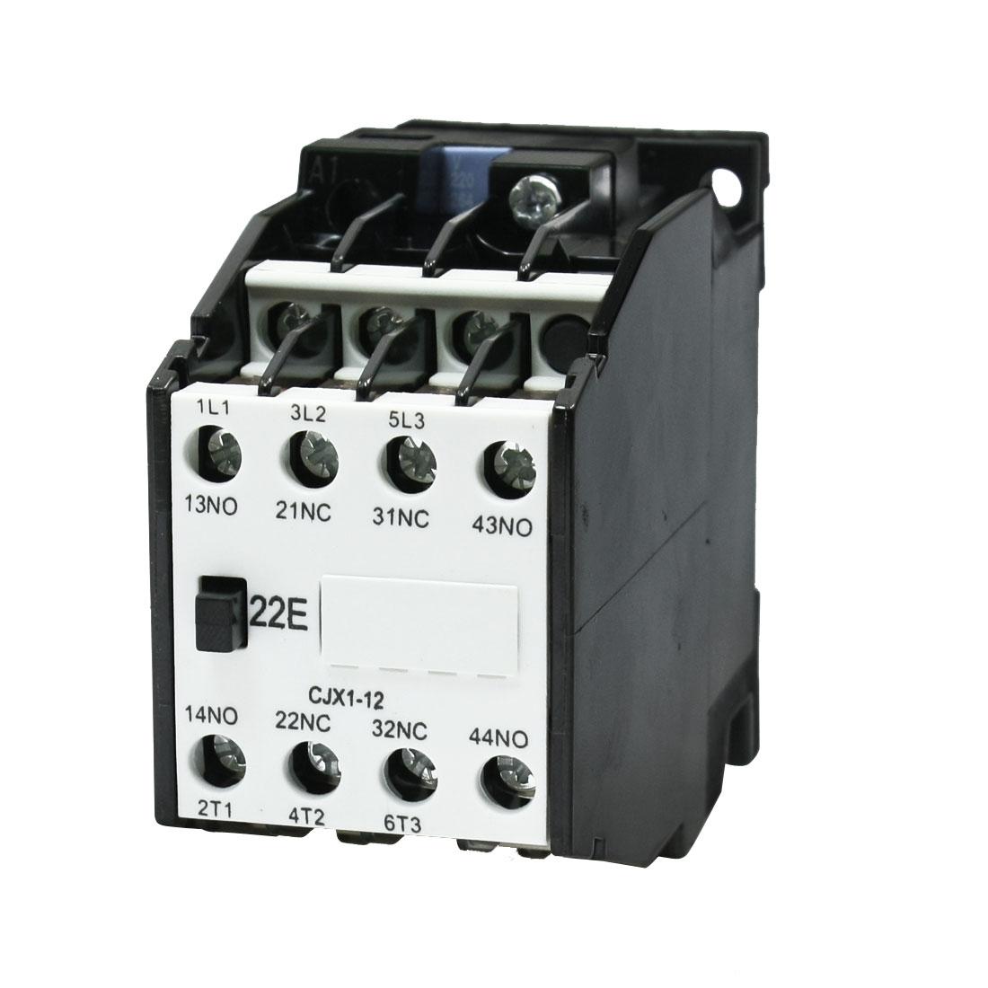 2NO + 2NC 220V/50Hz Coil Ui660V Ith20A AC Contactor CJX1-12A