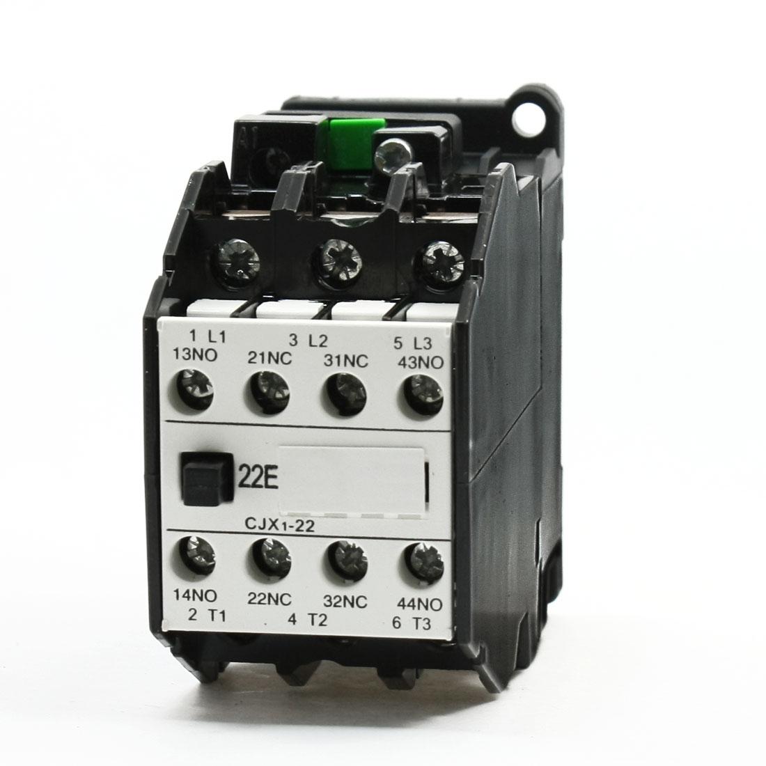 CJX1-22 3 Pole AC Contactor 36V 50Hz 42V 60Hz Ui660V Ith31.5A