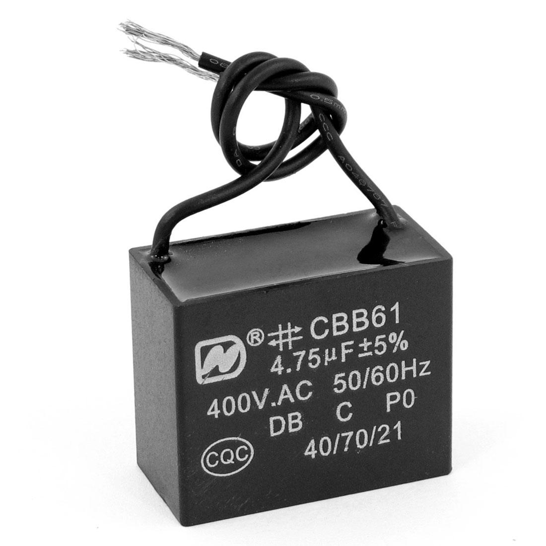 AC 400V 4.75uF Ceiling Fan Motor Running Capacitor CBB61