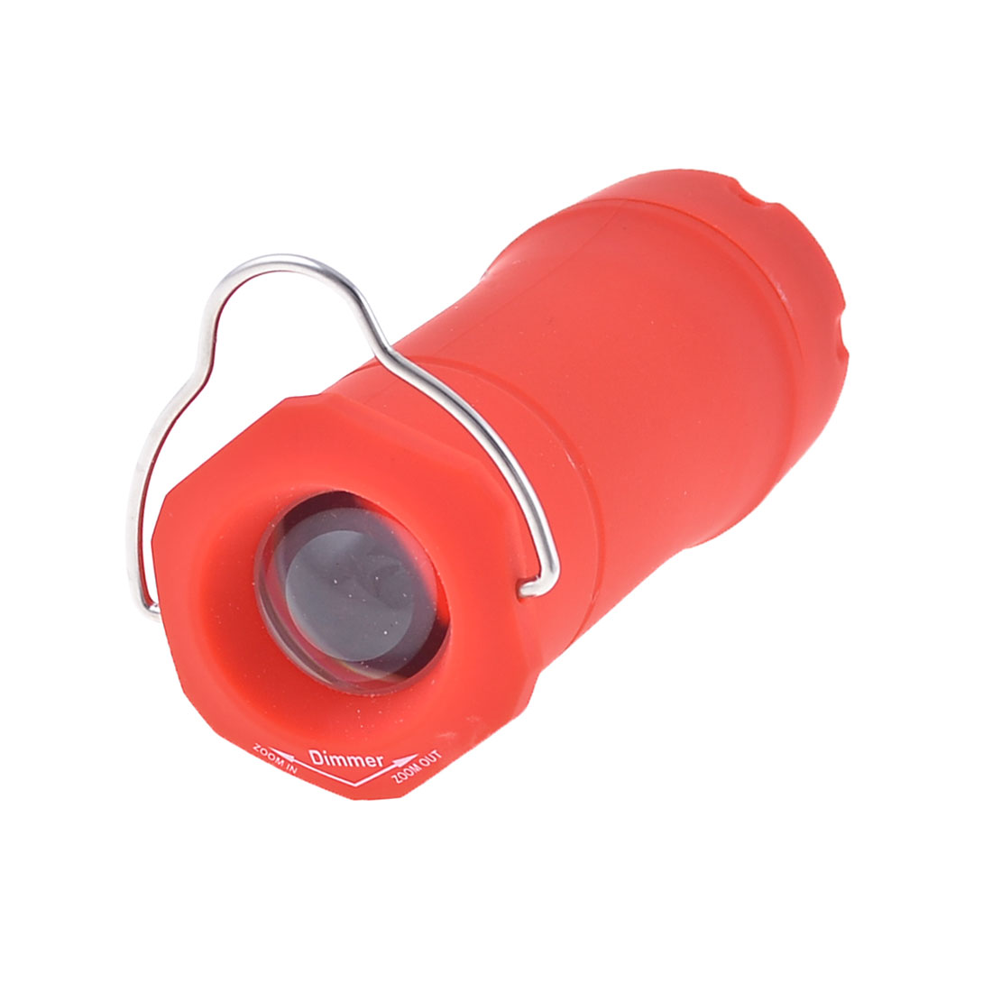 Plastic Housing Portable Mini Flash Light Torch Red Silver Tone 80 Lumens