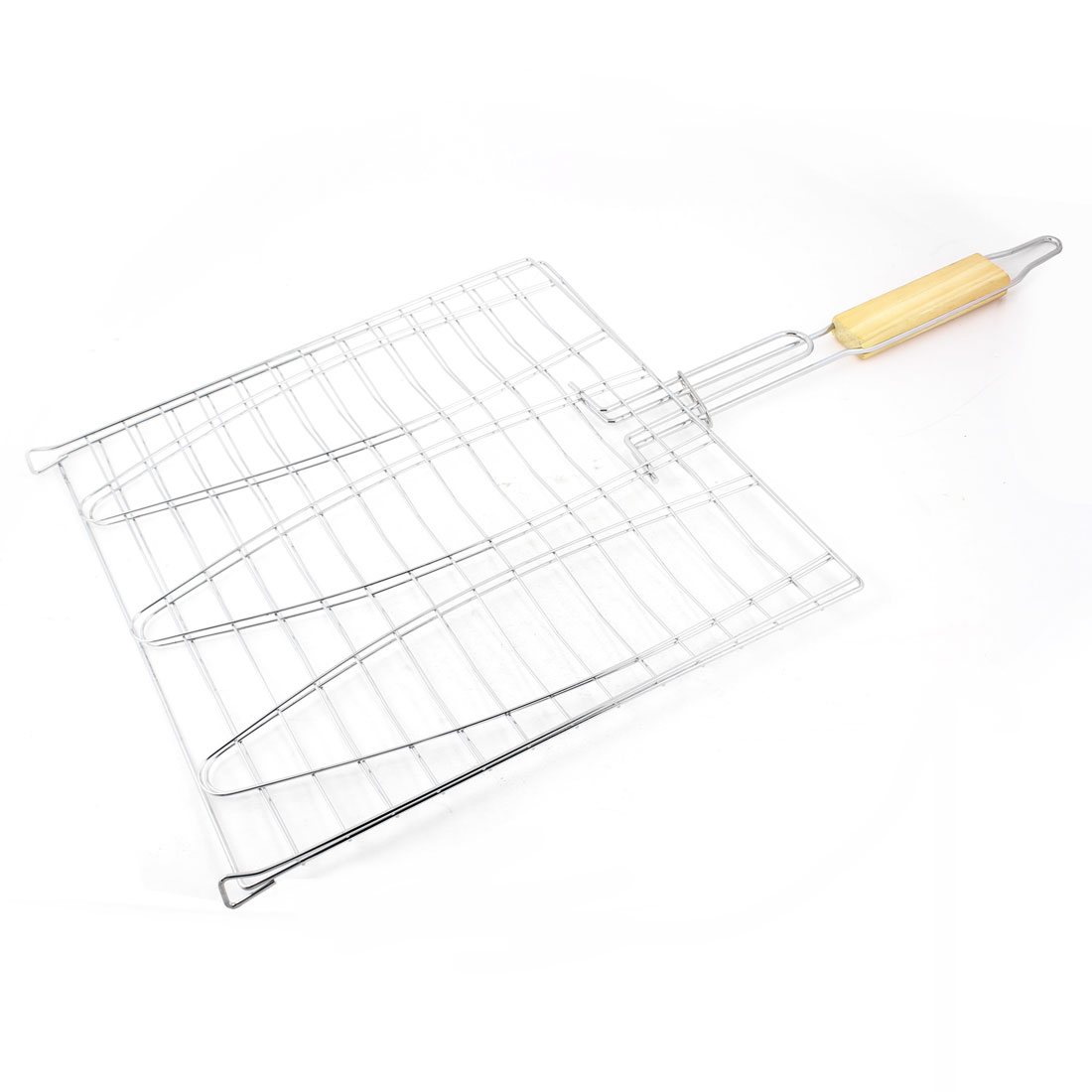 Outdoor Gamping Backyard Cooking Grilling Barbecue Net Basket 28cm x 28cm