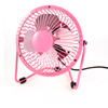 Angle Adjustable I/O Switch 4 Metal Flabellums Mini USB Fan Pink 10cm Dia