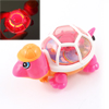 Fuchsia Orange Tail Pull String Flash Red Light Plastic Tortoise Toy Gift for Kids