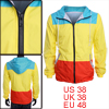 Multicolor Side Pockets Color Blocking Man Fashion Windproof Jacket M