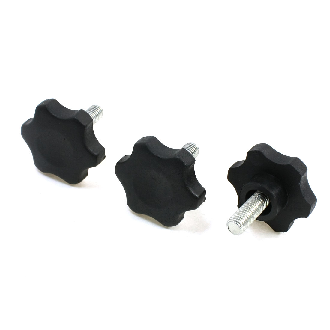 M8 x 20mm Thread 40mm Diameter Antislip Star Shaped Head Clamping Knob 3Pcs