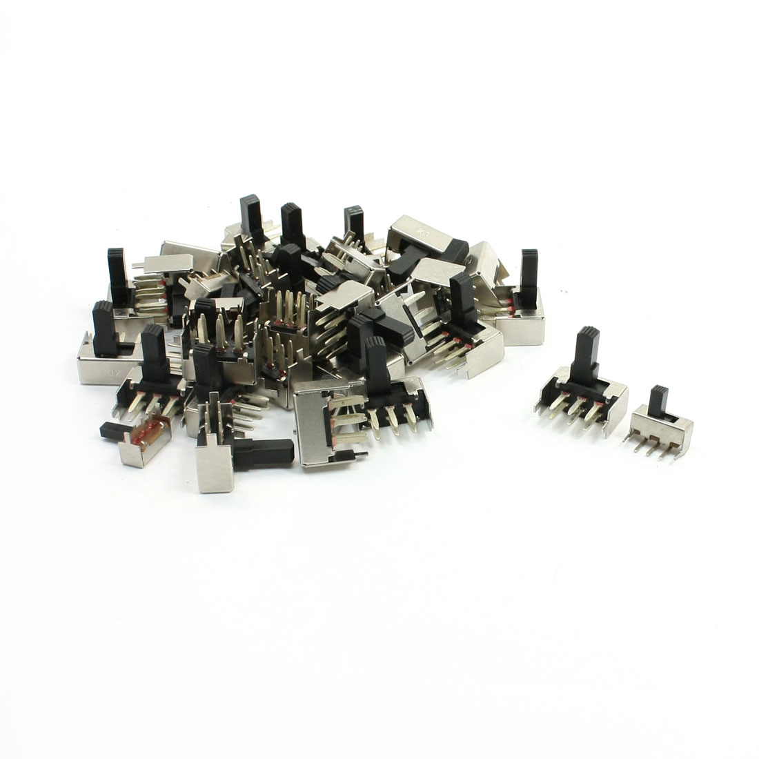 40 Pcs 6 Pins 2P2T DPDT Throug-Hole PCB Mounting Slide Switch