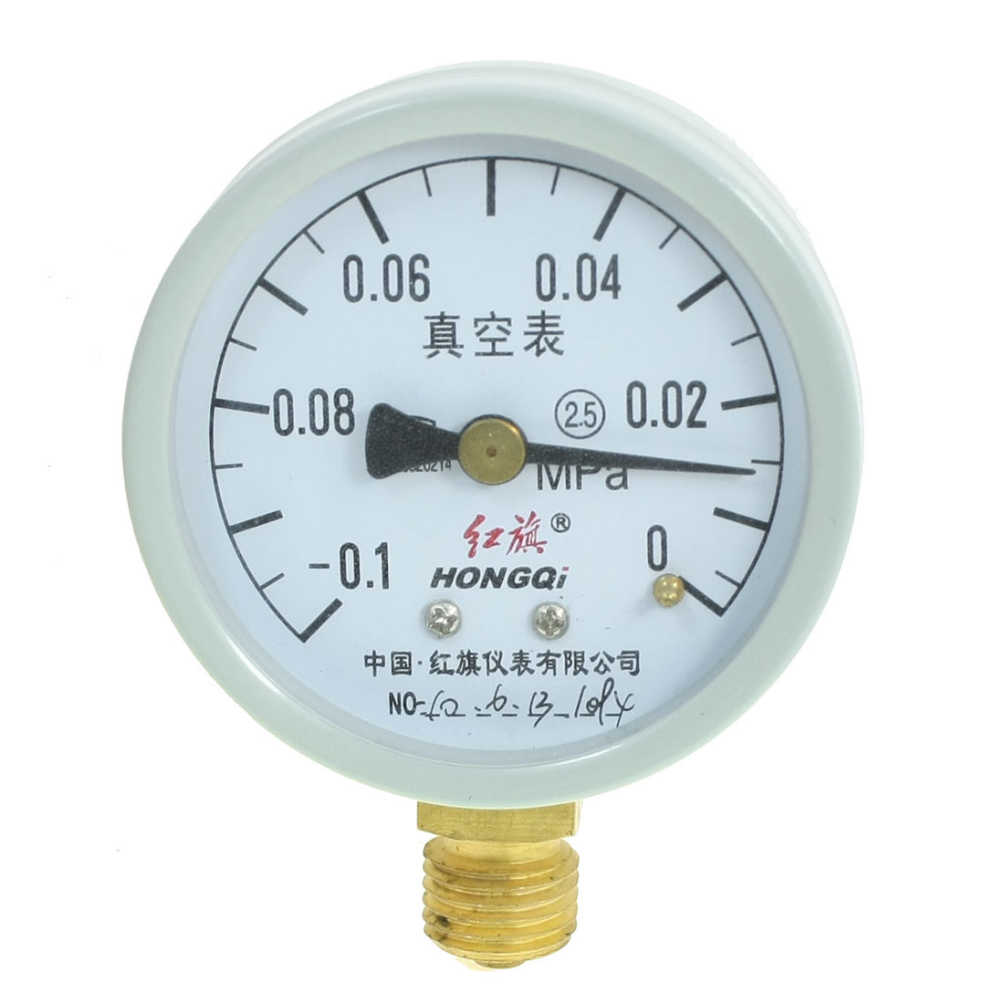 Lower Mount 0MPa to -0.1 MPa Thread Air Pressure Vacuum Gauge