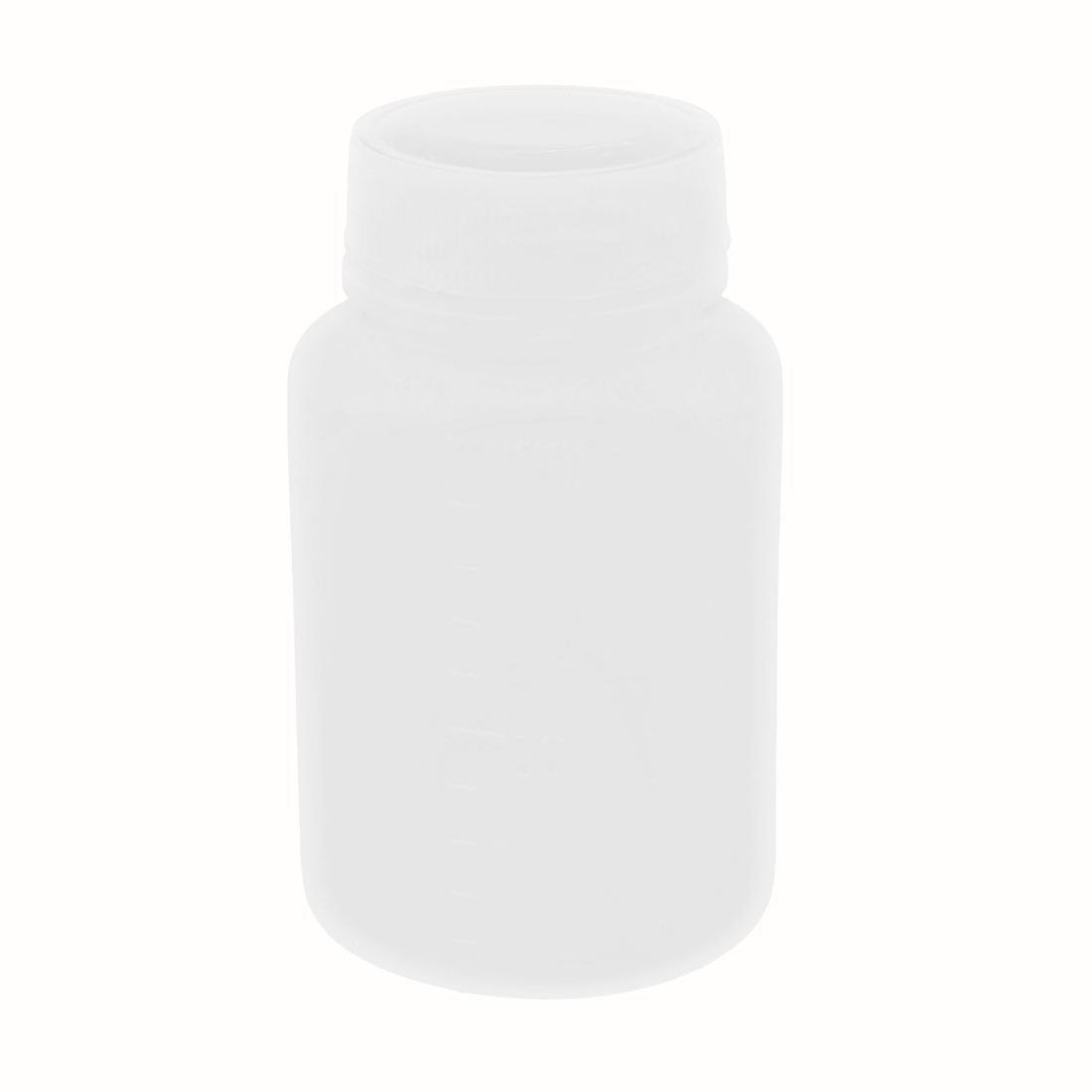 100ml White Plastic Cylinder Shaped Chemical Reagent Bottle