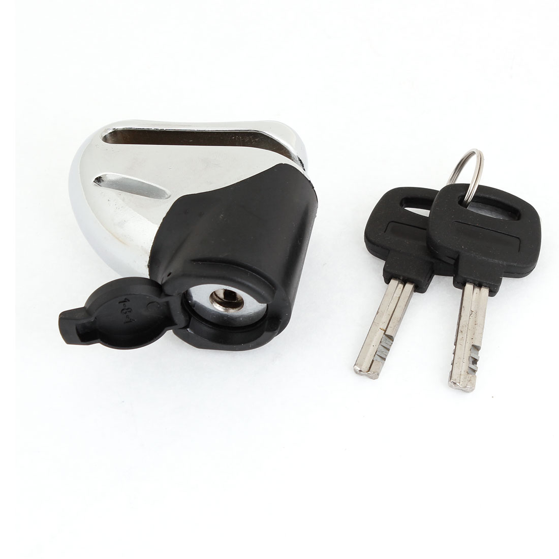 Silver Tone Black Safety Security Motorcycle Disc Brake Lock Lockset