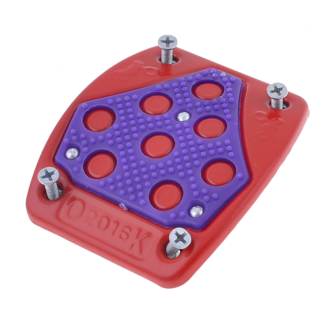 Car Red Purple Metal Antislip Fore Gas Clutch Brake Pedal Cover Pad