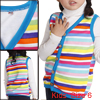 Girls Button Down Soft Lining Fashionable Vest Multicolor 6