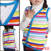 V Neck Button Up Winter Wearing Vest for Girls Multicolor 6X