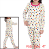 Kids Stretchy Waist Stars Pattern Lovely Pajama Sets White 4T