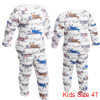 White Pullover Long Sleeve Tee w Long Pants for Child 4T