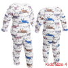 Cute Kids White Long Sleeve Helicopter Pattern Tee w Pants 4