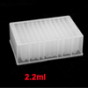 Clear 2.2ml Capacity 96 Square Shape Hole Well PCR Plate for DNA RNA Extraction