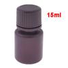 Screw Cap Cover 15ml Liquid Chemicals Storage Reagent Bottle Maroon
