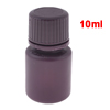 Liquid Container Maroon Plastic Cylindrical Agent Bottle 10ml
