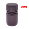 Screw Cap Cover 30ml Liquid Chemicals Storage Reagent Bottle Maroon