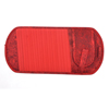 Car Elastic Band Red Flower Print Nylon 11 Pockets CD Storage Visor Holder
