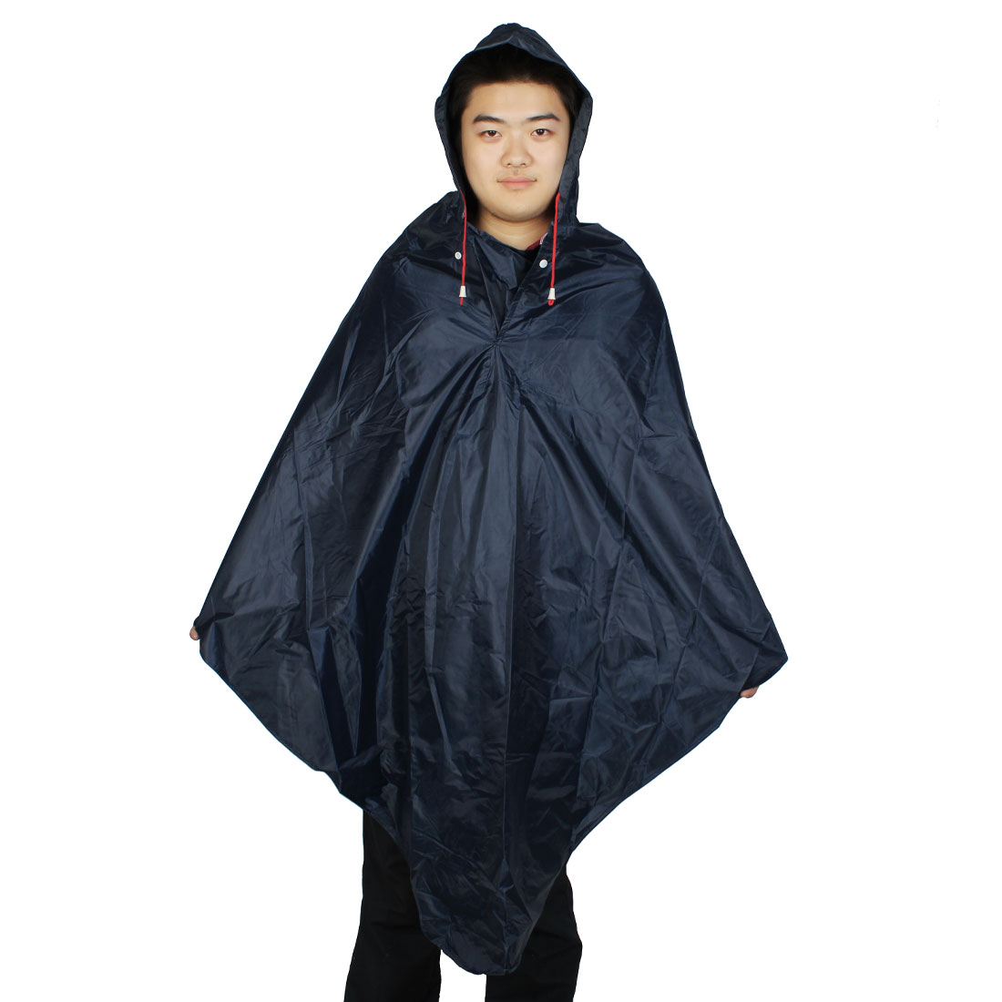 Bike Bicycle Motorcycle Outdoors Dark Blue Raincoat Poncho