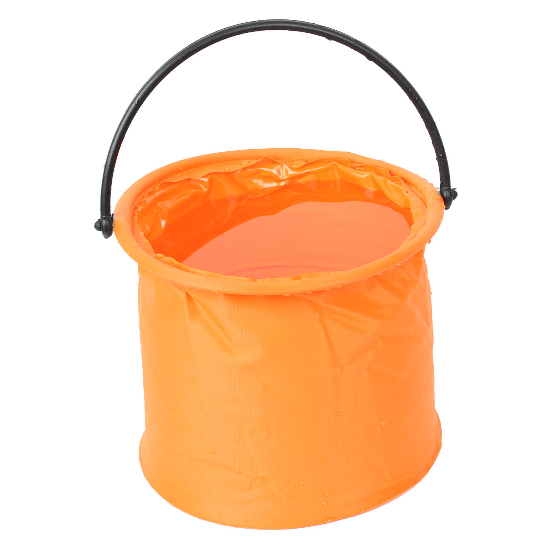 Portable Orange Car Cleaning Angling Fishing Foldable Water Bucket 4.5L