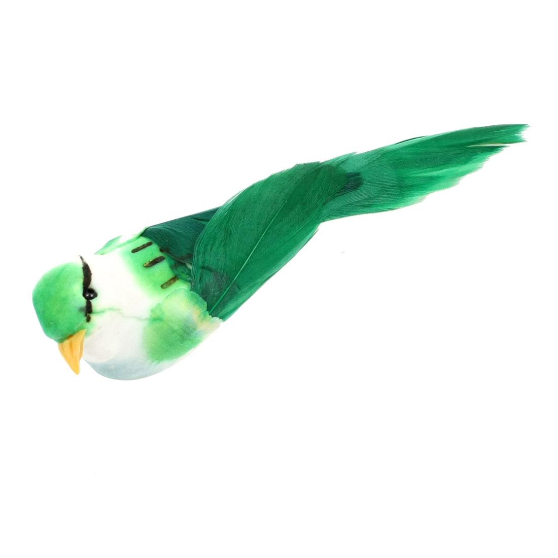 Home Fridge Door Decor Green Artificial Bird Magnetic Sticker