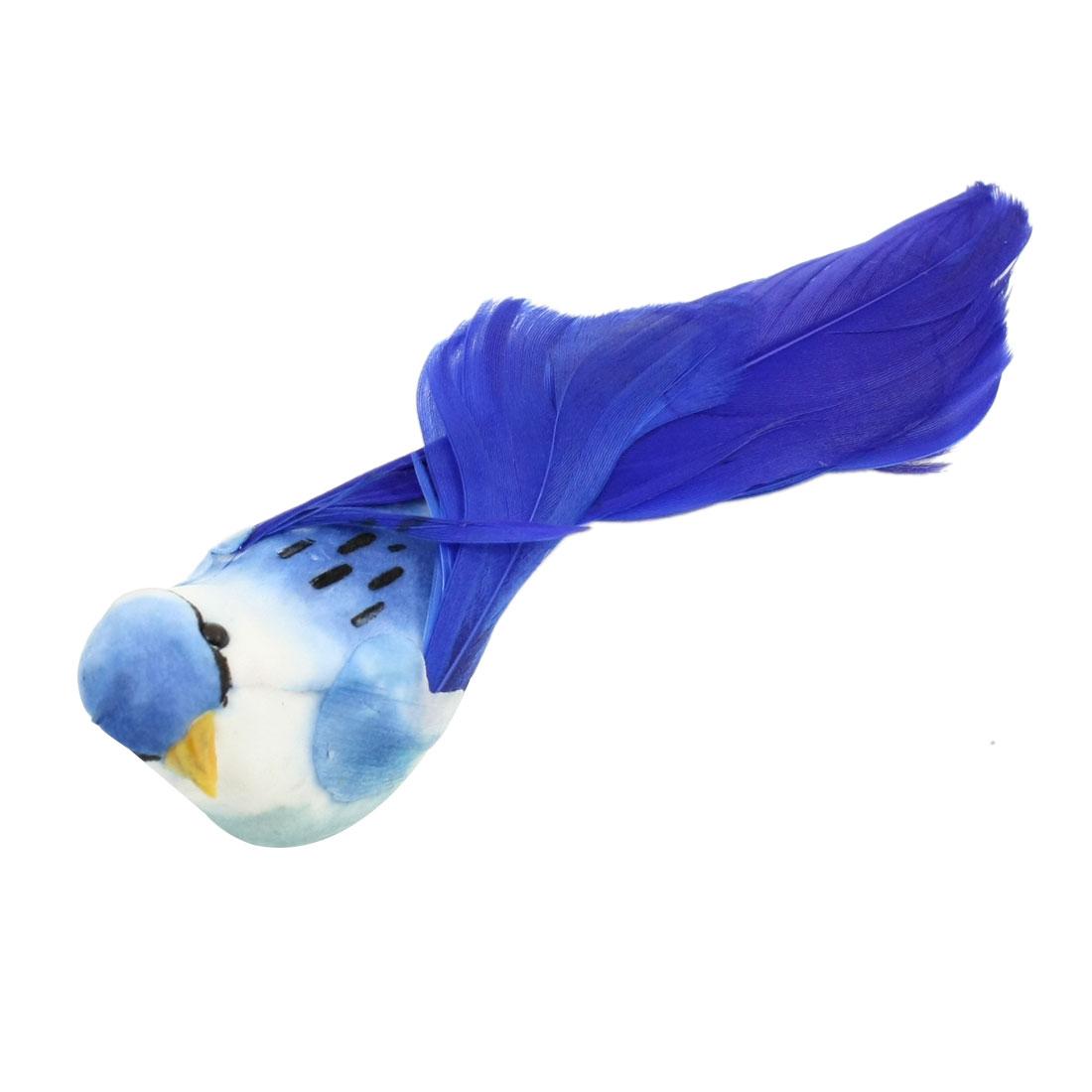 Kitchen Blue White Faux Feather Craft Bird Fridge Magnetic Sticker