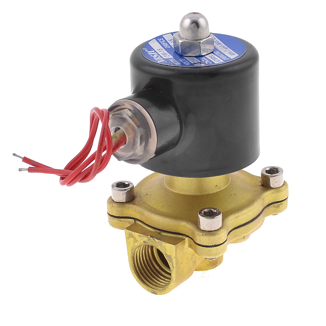 Two Way 2 Position Pneumatic Solenoid Valve AC 220V 2W-15 50/60Hz
