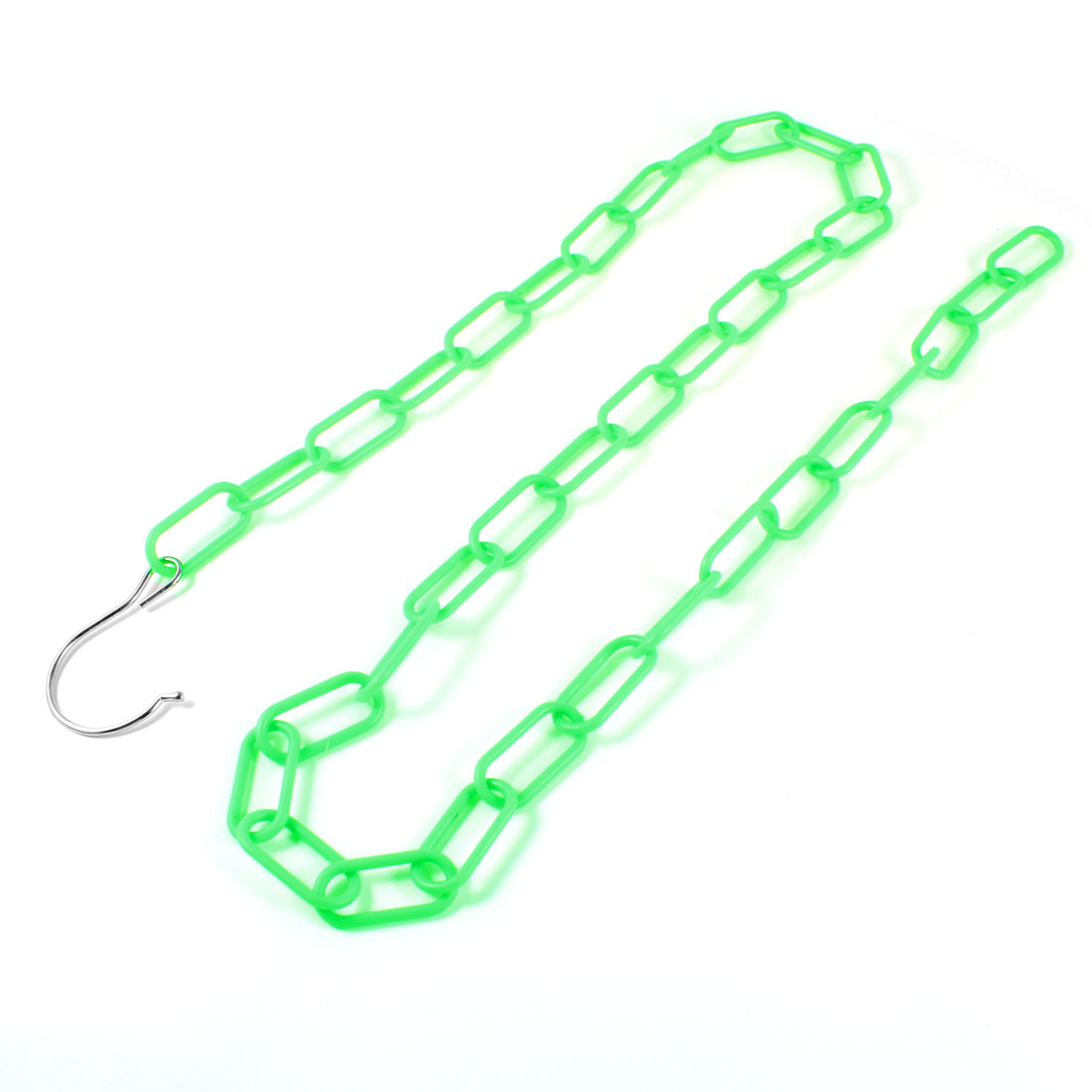 1.4M Green Plastic Chain Hook Clothes Handbag Organizer Hanger