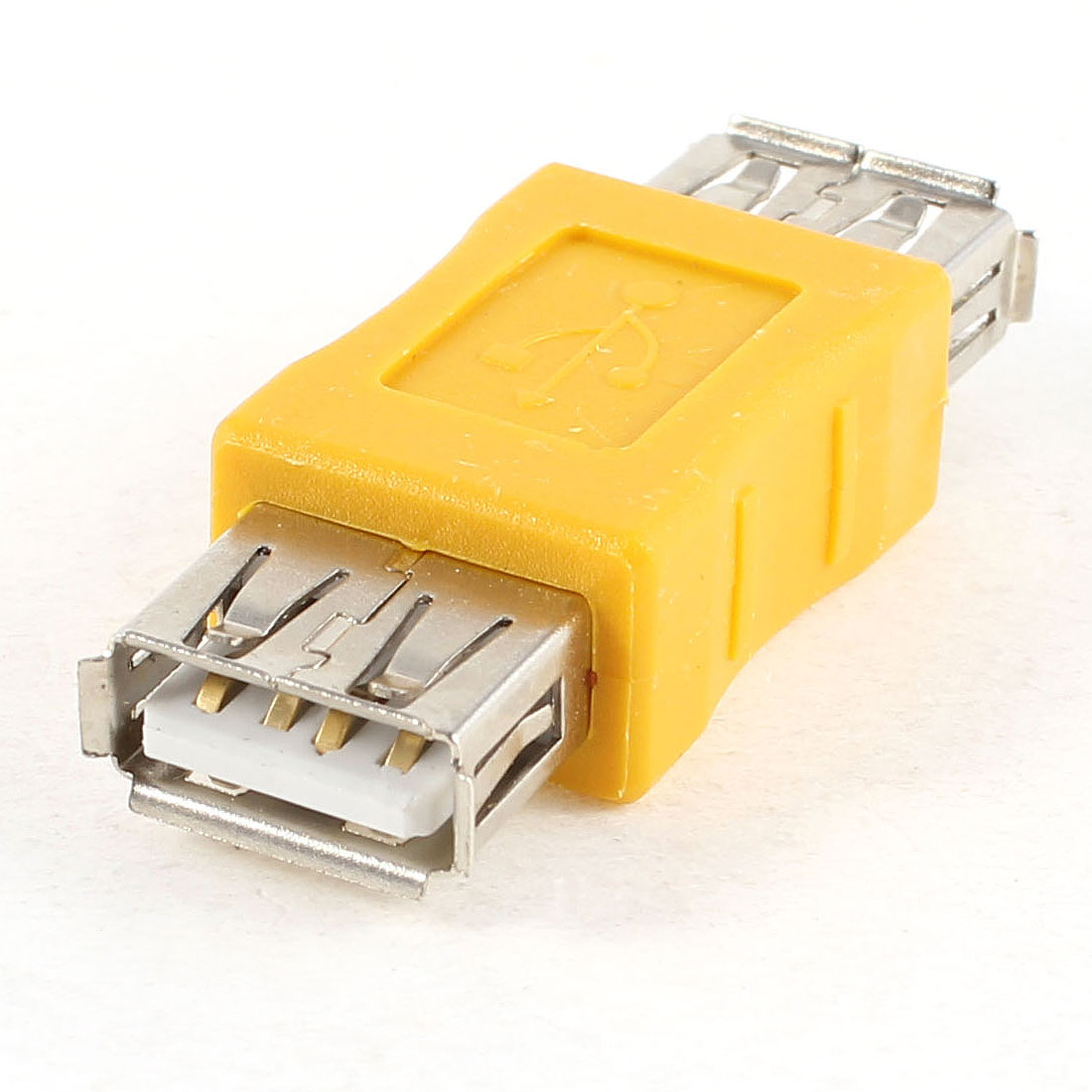 USB 2.0 Type A Female to Female Connecting Adapter Yellow