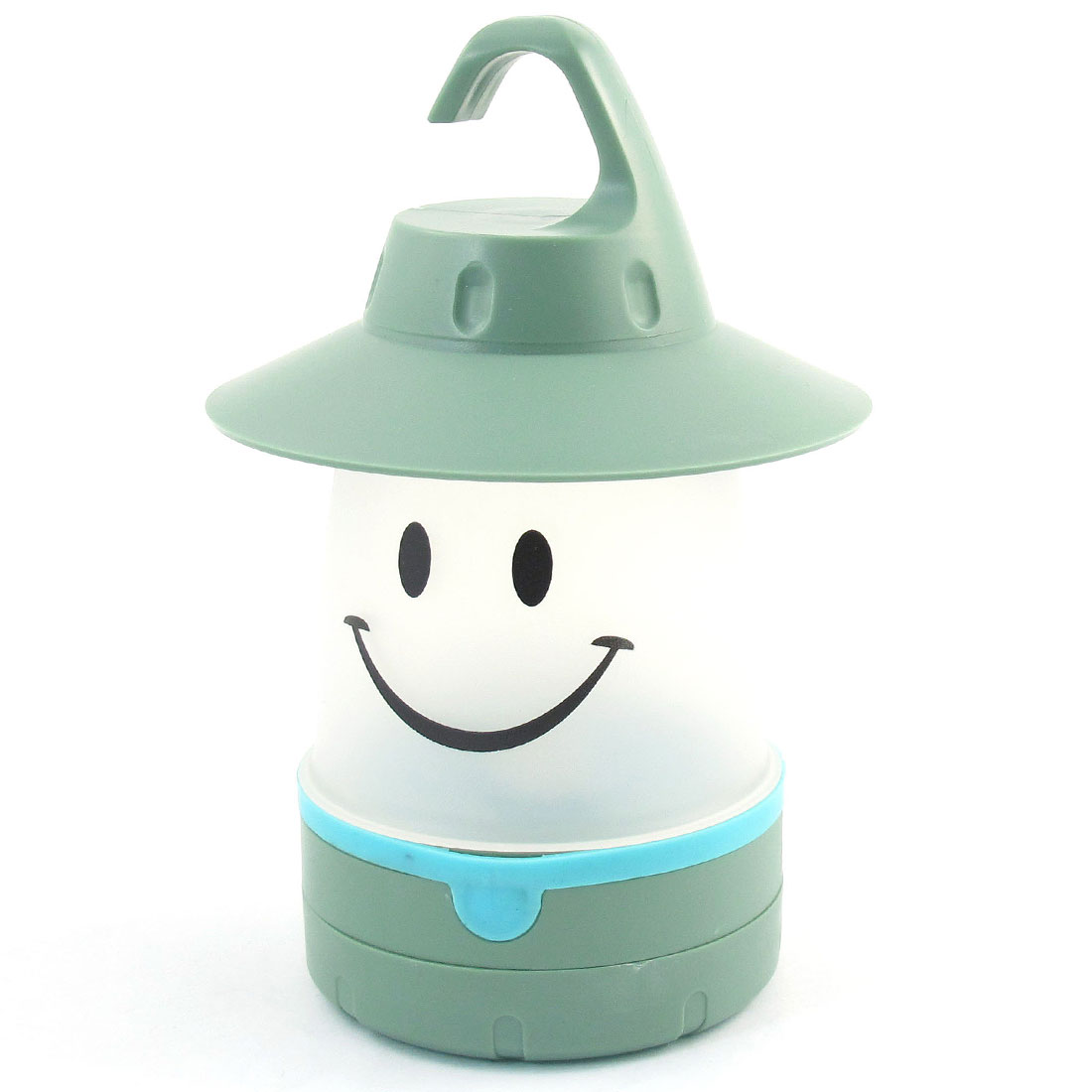 Green Hook Hanging Warm White Smile LED Lantern Camping Light