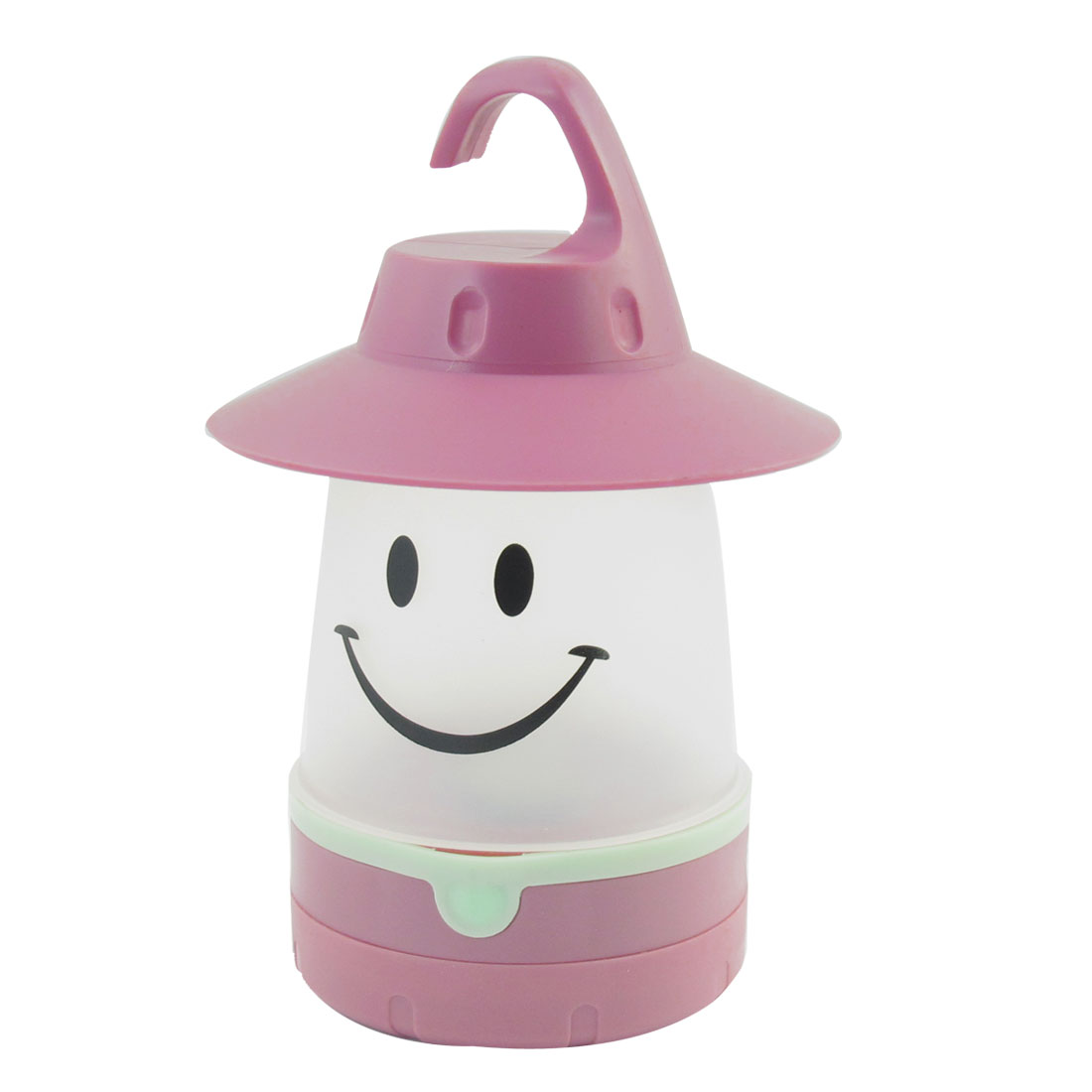 Rosy Brown Plastic Warm White Smile LED Lantern Night Camping Light