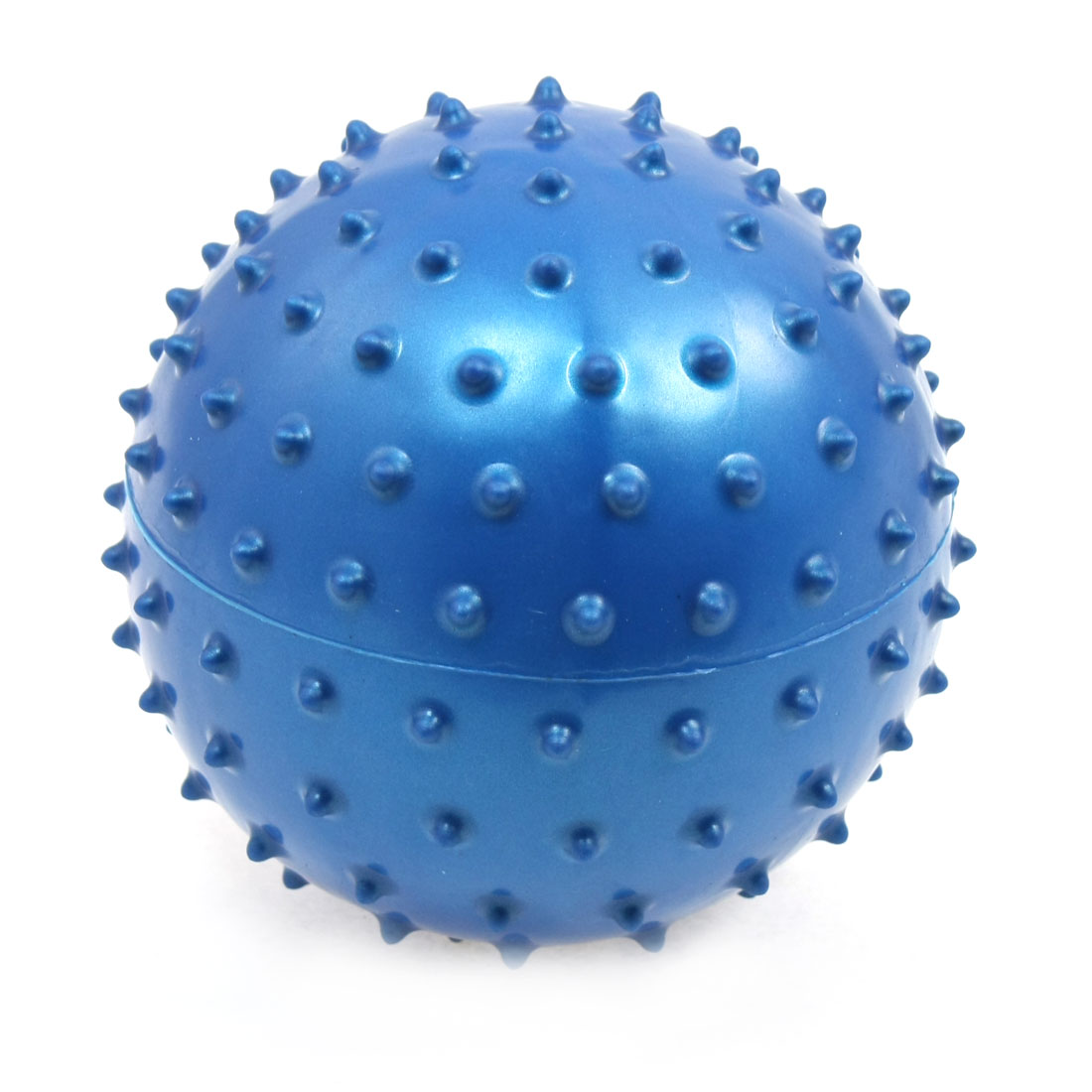"4.9"" Diameter Blue Knobby Inflatable Massage Ball Toy"