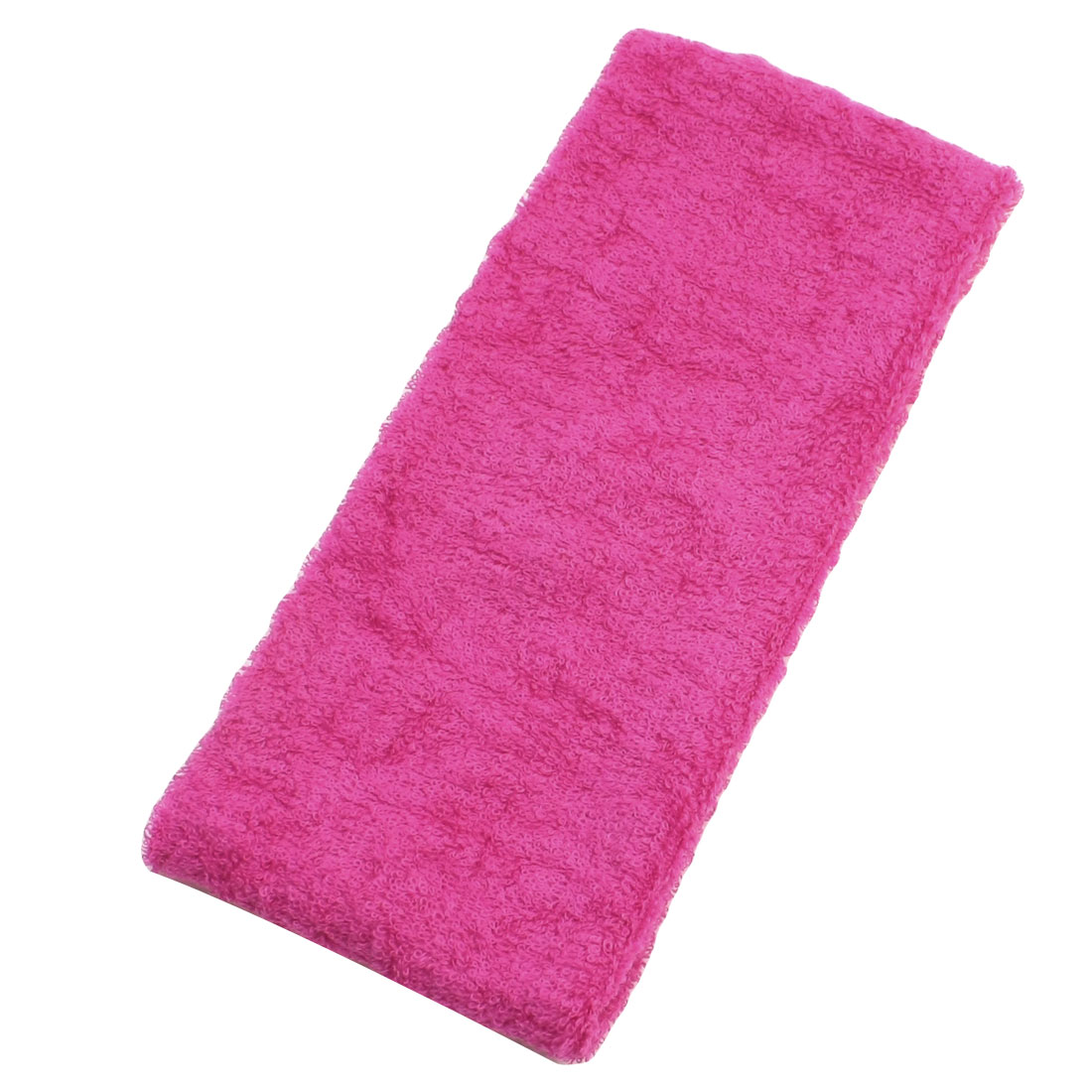 2 Pcs Fuchsia Absorbent Elastic Terry Head Band for Sports