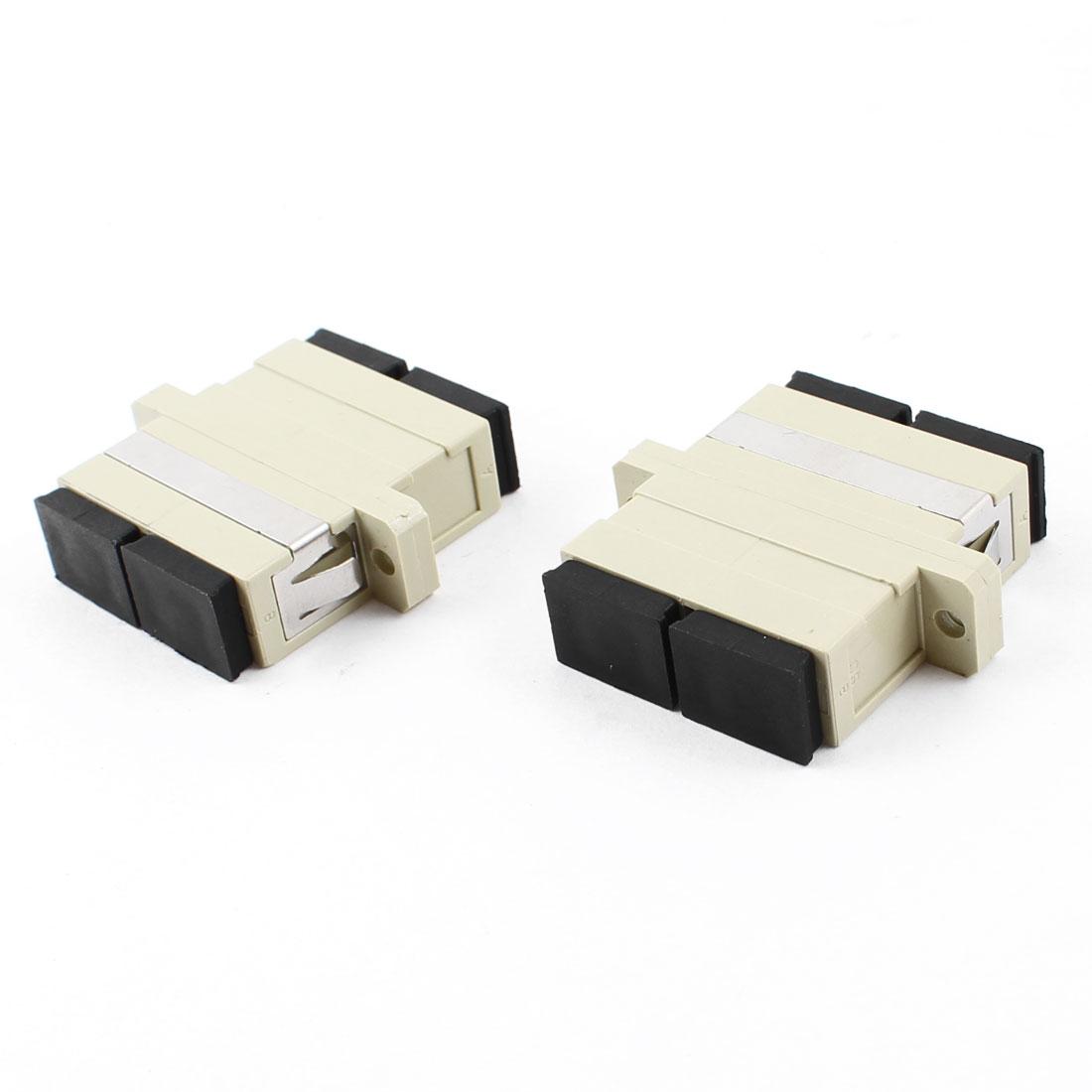 SC/SC Duplex Flange Type Fiber Optic Connector Adapter Coupler 2 PCS