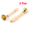 Children Wood Color Handle Metal Bell Percussion Musical Toy 2 Pcs