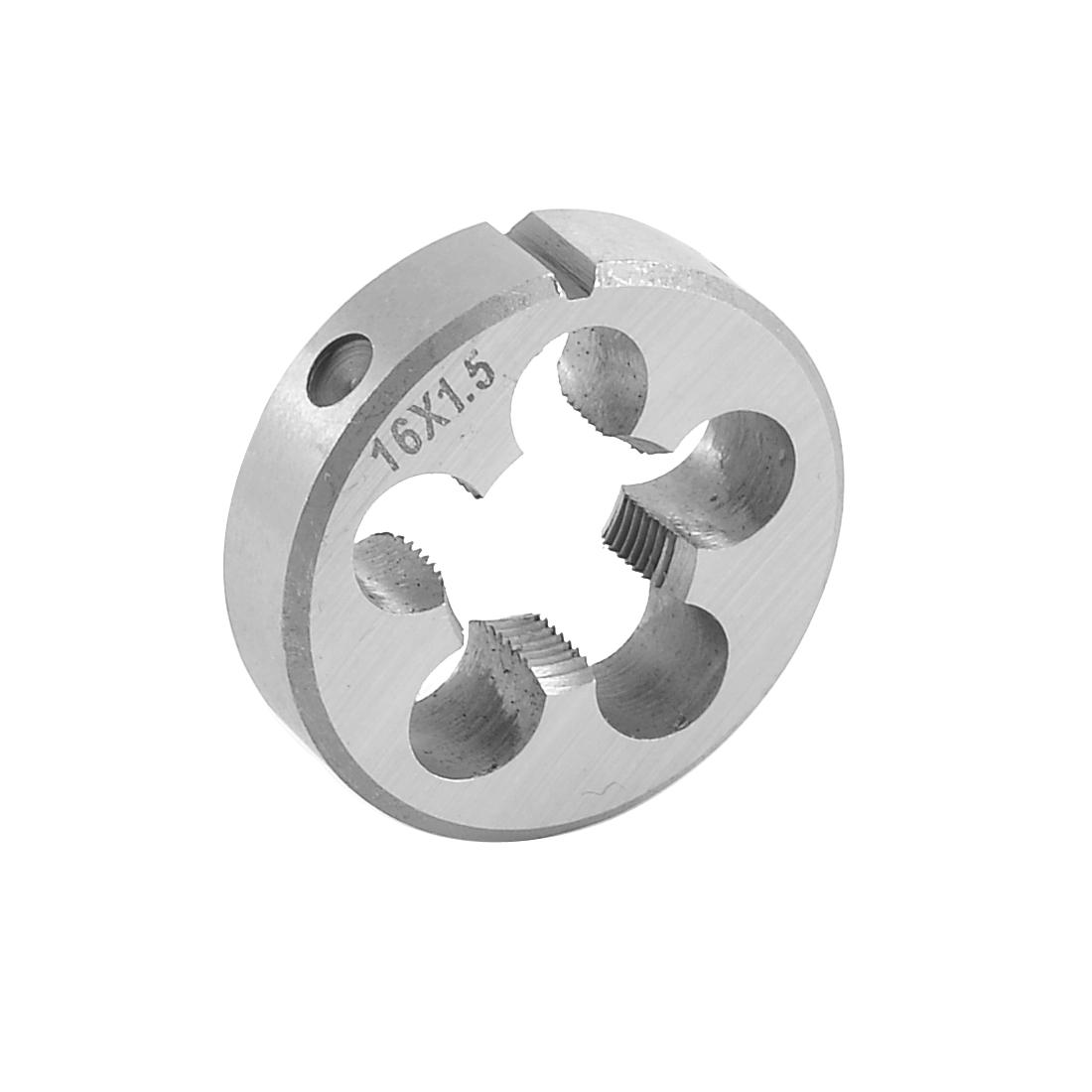 Steel 14mm Thickness Metric M16 x 1.5mm Screw Thread Round Die Tool