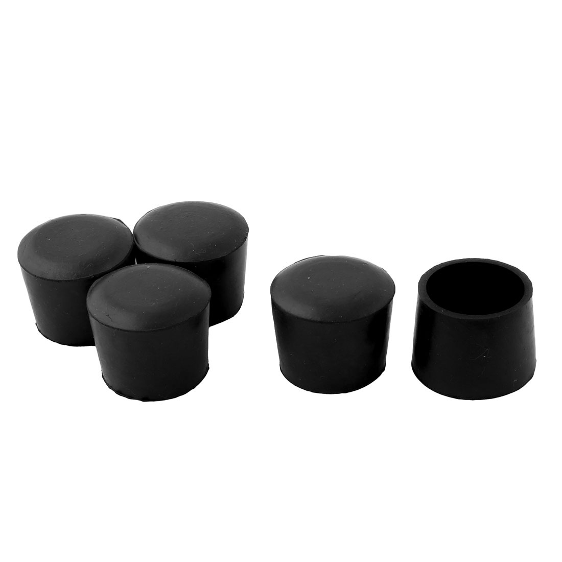 Furniture Chair Table 38mm Inner Dia Round Rubber Foot Covers 5 Pcs