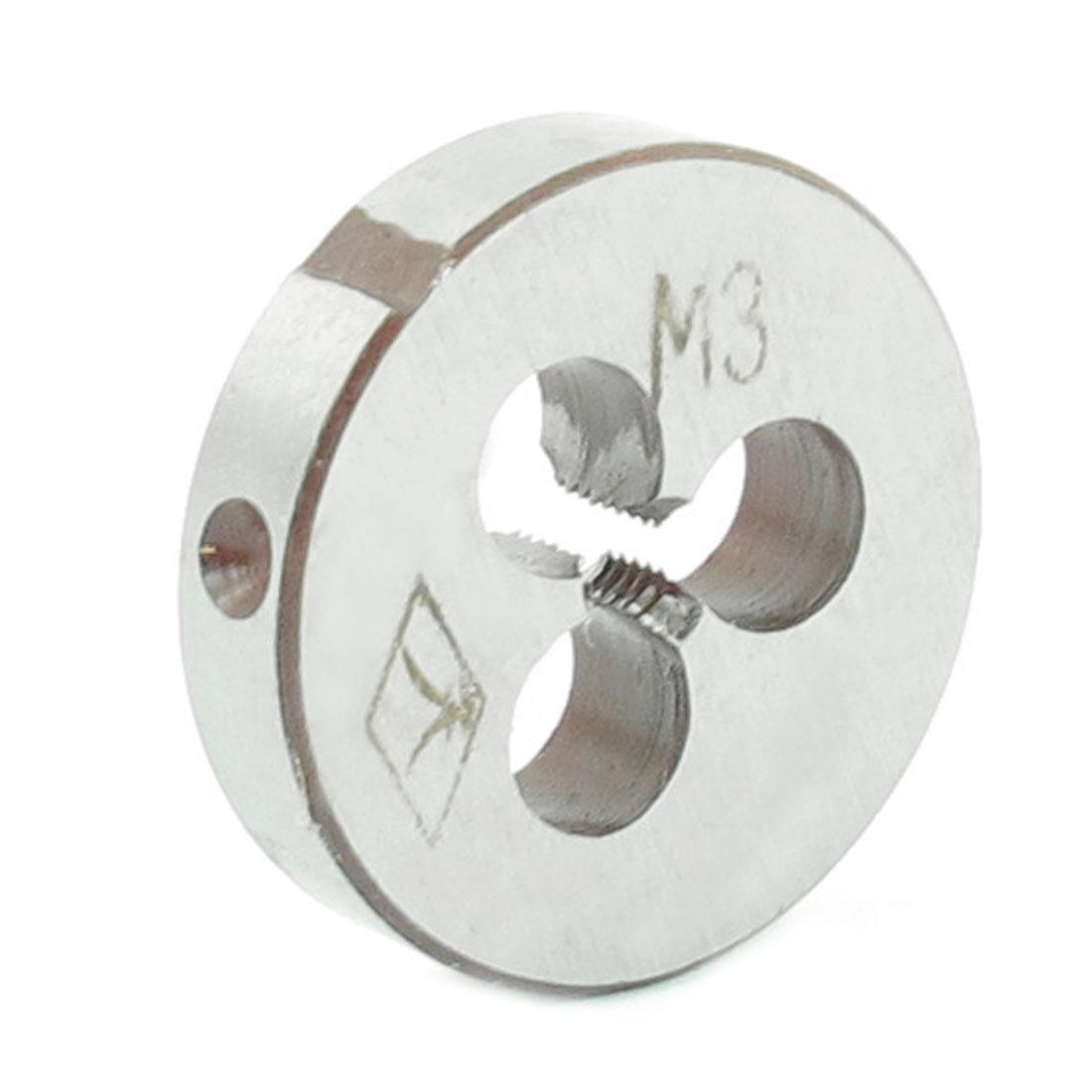 Steel 5mm Thickness Metric M3 Screw Thread Round Die Tool